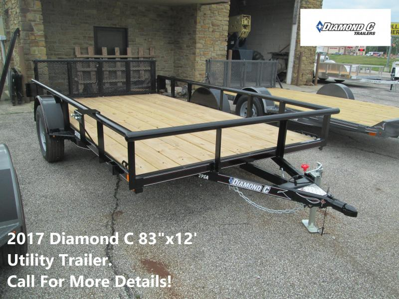 "2017 83""x12'  Diamond C Utility Trailer. 89533"