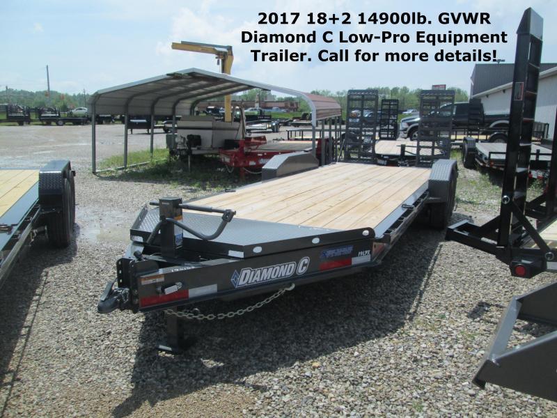 2017 18+2 14900lb GVWR Diamond C Low-Pro Equipment Trailer. 86153