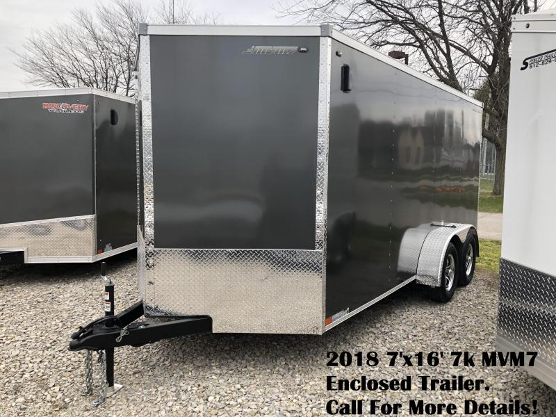 2018 7'x16' 7k MVM7 Enclosed Trailer. 1262