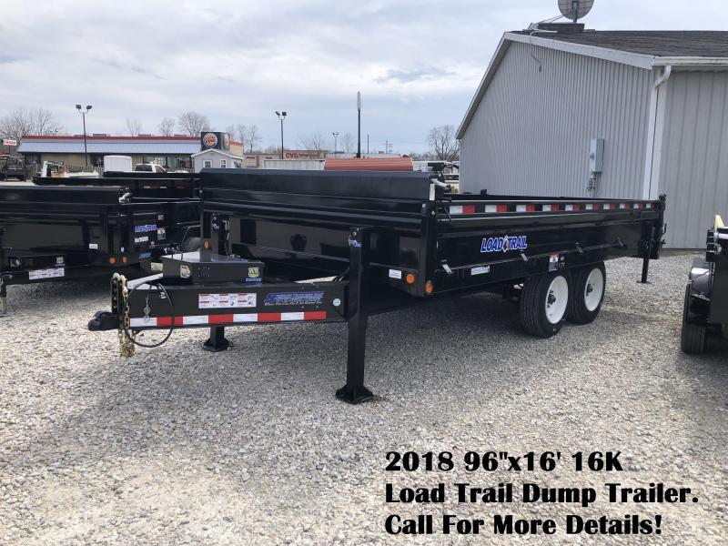 "2018 96""x16' 16K Load Trail Dump Trailer. 53517"