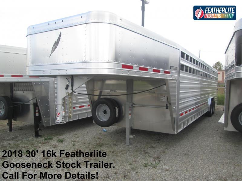 2018 30' 16k Featherlite Gooseneck Stock. 147214