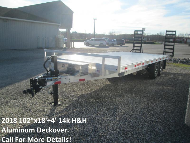 "2018 102""x18'+4' 14k H&H Aluminum Deckover. 76612"