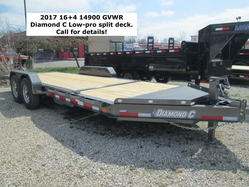 2017 16+4 14900 GVWR Diamond C Low-Pro Split Deck Tilt. 86120