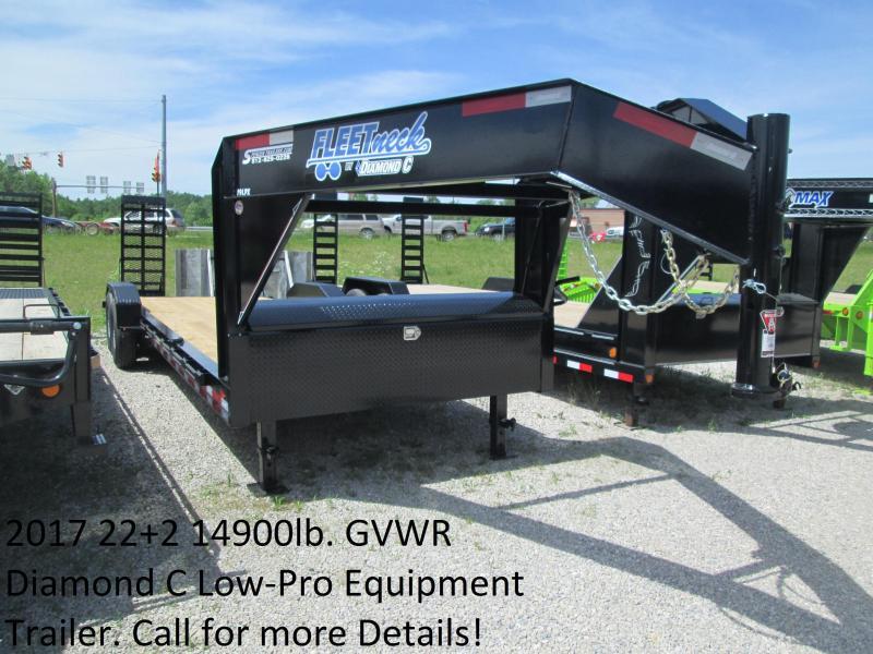 2017 22+2 14900lb. GVWR Diamond C Low-Pro Gooseneck Equipment Trailer. 88298
