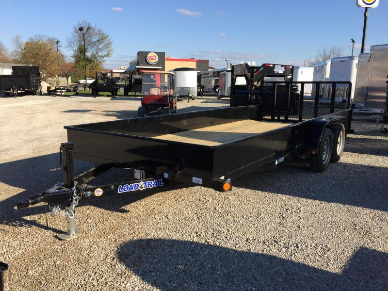 "2018 83""x16'+2'  7k GVWR Load Trail Solid Sided Utility Trailer. 51555"