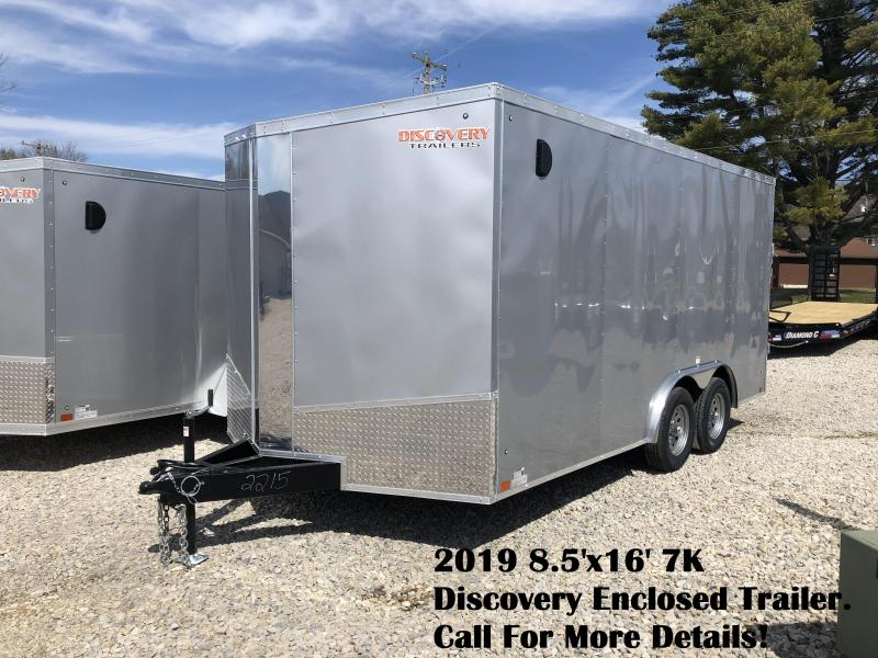 2019 8.5'x16' 7K Discovery Enclosed Trailer. 2215
