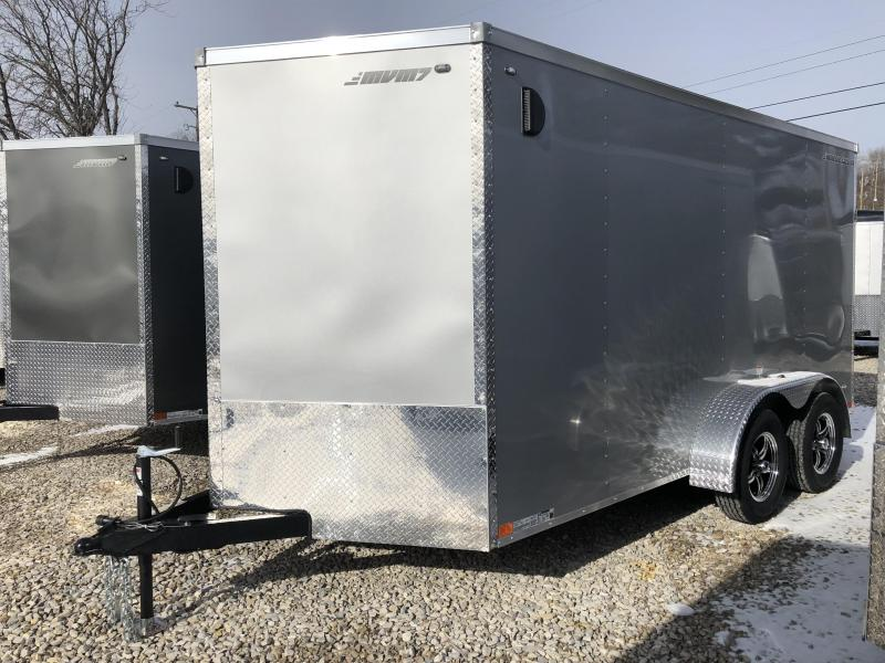 2018 MVM7 7x14 7k Enclosed Cargo Trailer. 1259 (silver)