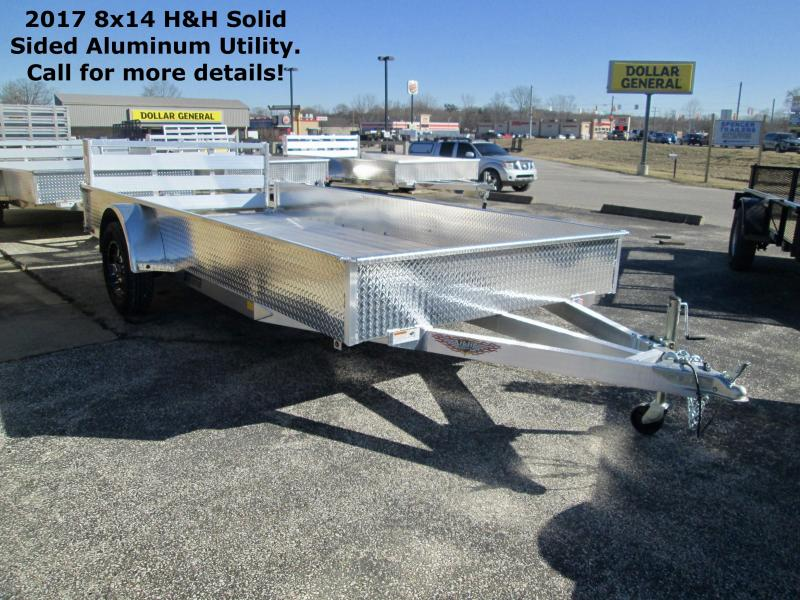 2017 8x14 H&H Solid Sided Aluminum Utility. 68814