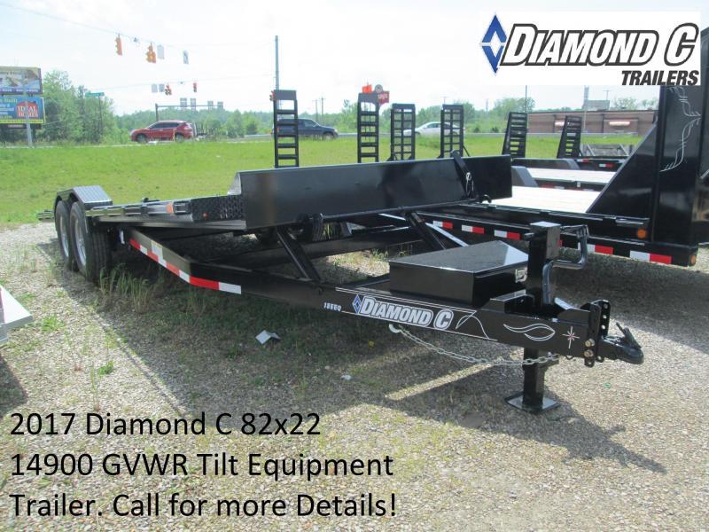 2017 102x22 14900 GVWR Diamond C Equipment Tilt. 88884
