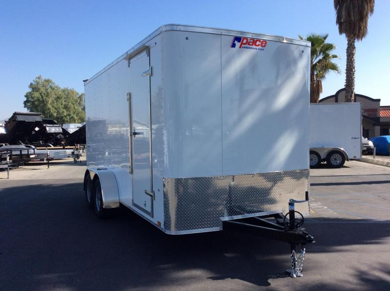 2018 Pace American Outback 7' x 16' Enclosed Cargo Trailer