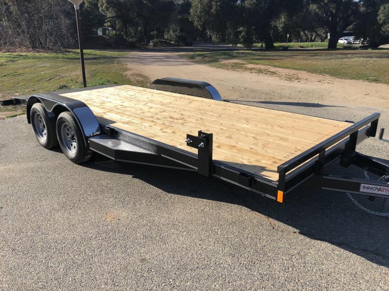 "2018 Innovative Trailer Mfg. Wood Floor Car Hauler 83"" x 18' Flatbed Auto Trailer"
