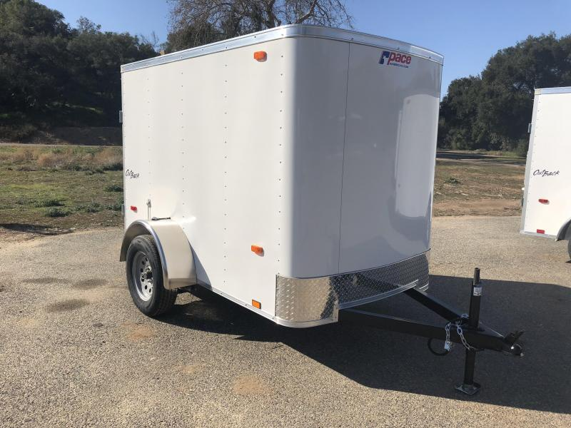 2018 Pace American Outback 5' x 8' Cargo / Enclosed Trailer