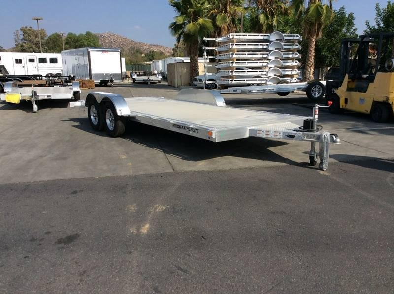 2018 Featherlite 3182 8.5' x 18' Flatbed Car Trailer