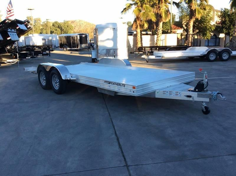 2017 Featherlite 3110 8.5' x 17.5' Auto Hauler Flatbed Car Trailer