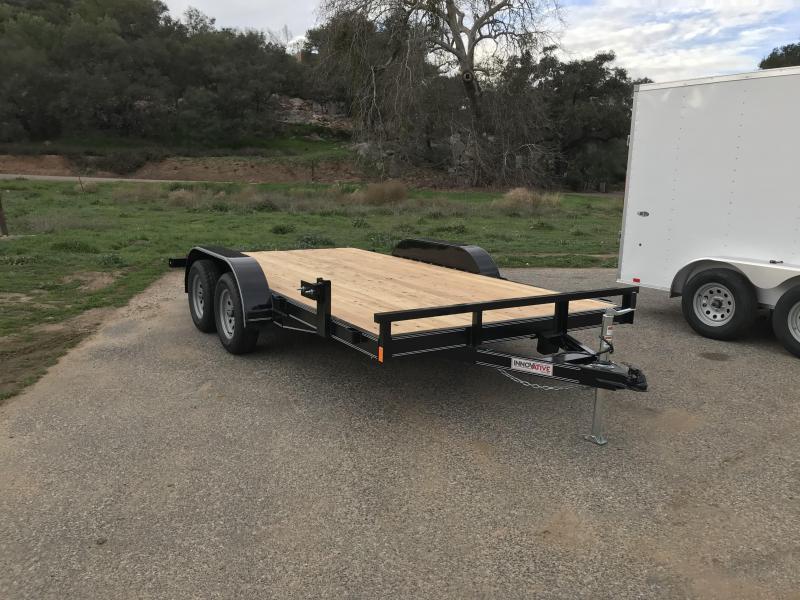 "2018 Innovative Trailer Mfg. Economy Wood Car Hauler 83"" x 14' Flatbed Trailer"