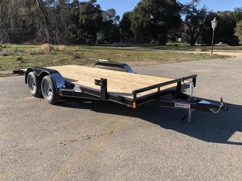 "2018 Innovative Trailer Mfg. Wood Floor Car Hauler 83"" x 16' Upgraded Flatbed Auto Trailer"