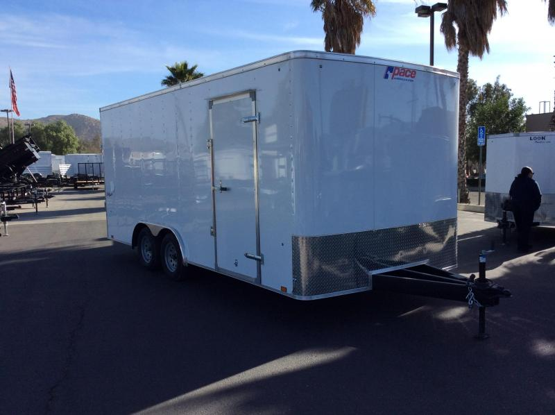 2018 Pace American Outback 8.5' x 18' Enclosed Car Trailer