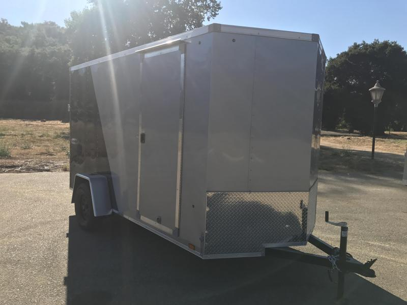 2018 Look Trailers Vnose Element 6' x 12' Enclosed Cargo Trailer