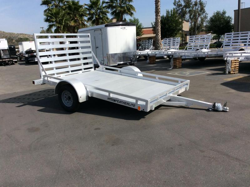 2017 Featherlite 1693 6.5' x 10' Open Utility Motorcycle Trailer