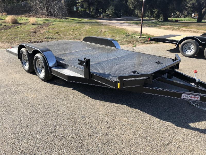 "2018 Innovative Trailer Mfg. Steel Floor Car Hauler 83"" x 16' Flatbed Auto Trailer"