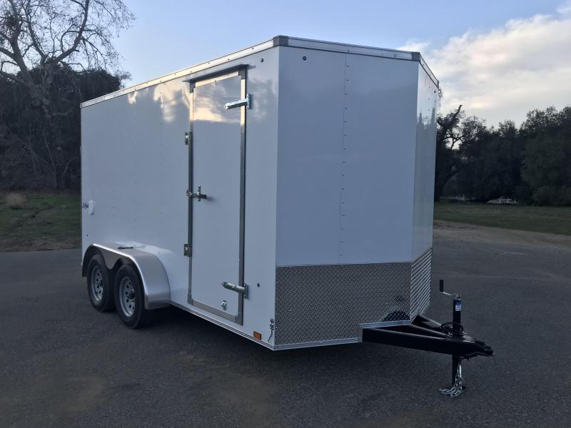 2019 Pace American Vnose Outback 7' x 14' Enclosed Cargo Trailer