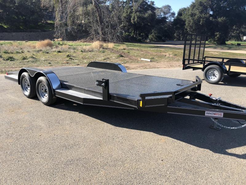 "2018 Innovative Trailer Mfg. Steel Floor Car Hauler 83"" x 18' Flatbed Auto Trailer"