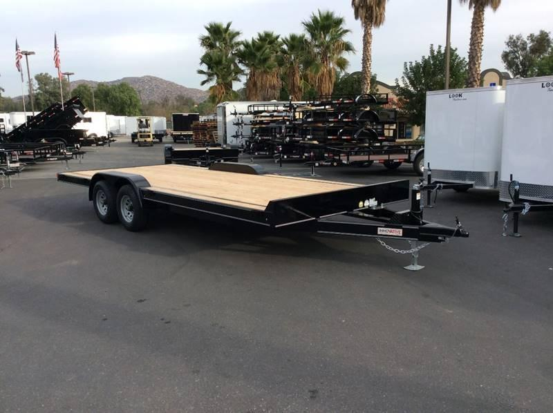 "2018 Innovative 82"" x 20' Flatbed 10K Car Trailer with Driveover Fenders"