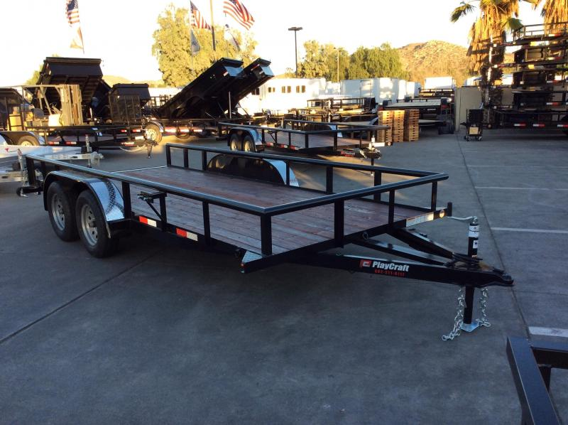"2018 Sun Country 77"" x 16' PP Utility Trailer"
