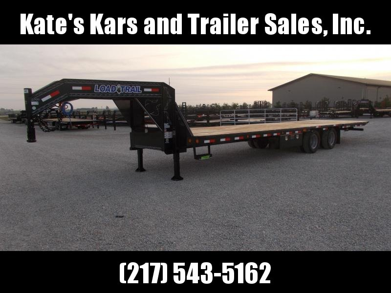 GREAT BUY! Load Trail 32' Gooseneck Hydraulic Dovetail Flatbed Trailer