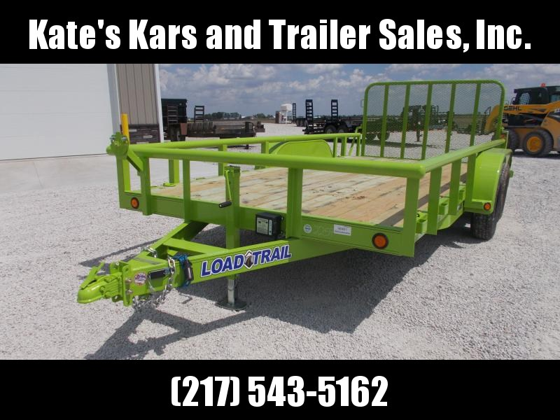 "SAFETY GREEN!! Load Trail 83""X16' Landscape Utility Trailer"