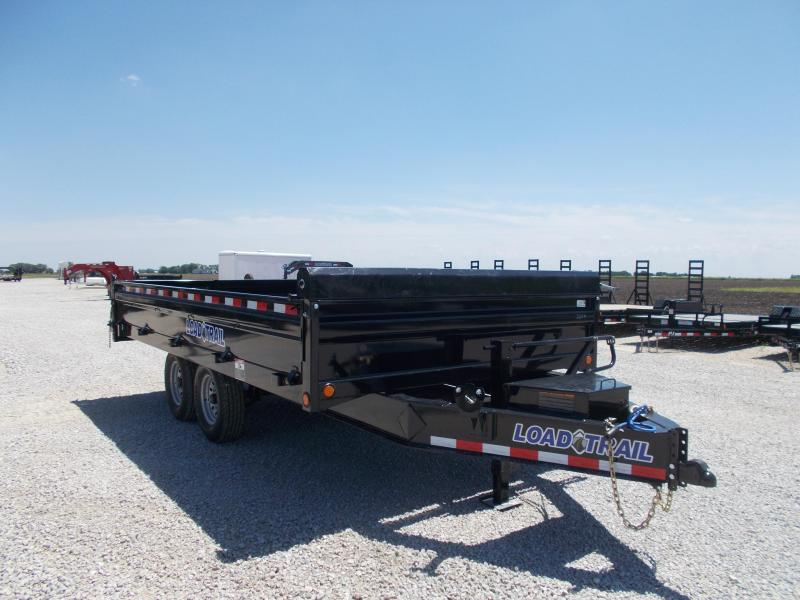 "FOLD DOWN SIDES!! Load Trail 96""X16' Deck Over Dump Trailer 14K LB"