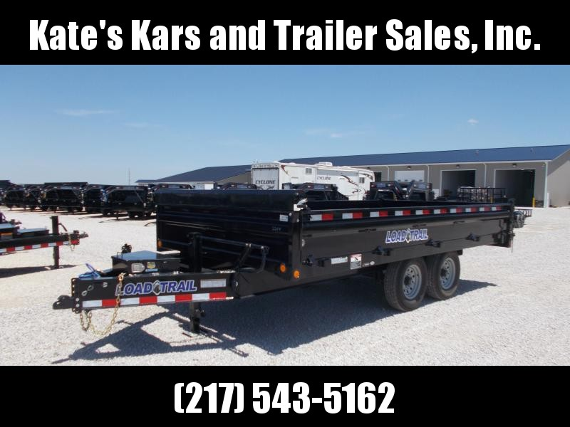 "FOLD DOWN SIDES!! Load Trail 96""X16' Deck Over Dump Trailer 14K LB"