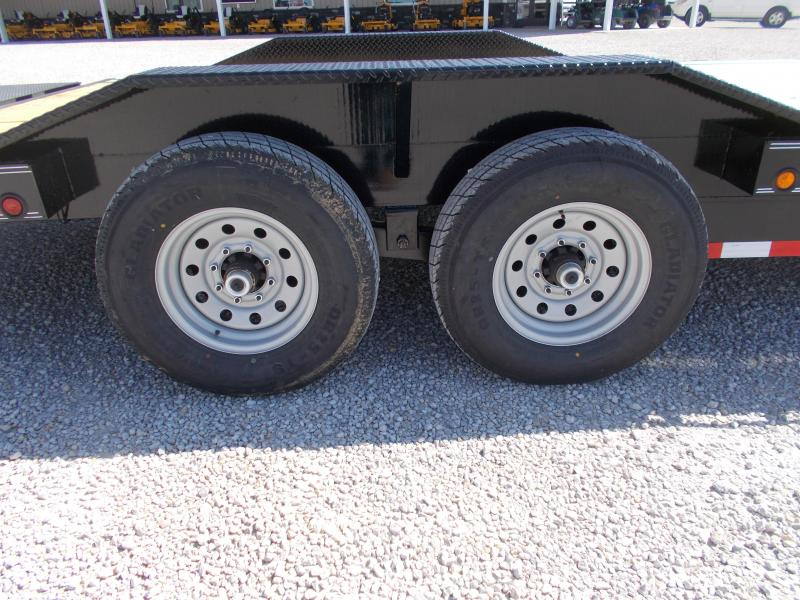 """DRIVE OVER FENDERS Load Trail 102""""X24' Equipment Trailer Flatbed 14K LB"""