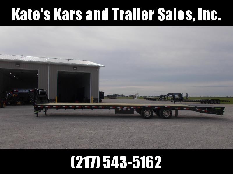 Hotshot Gooseneck Load Trail 102X40' Air Ride and Disc Brakes Flatbed Trailer