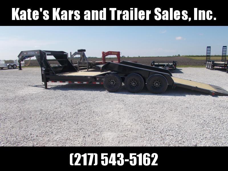 GOOSENECK  Load Trail 83X24' Tilt Trailer 21K GVWR Equipment Trailer