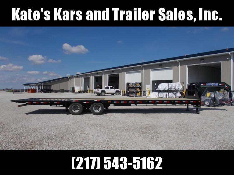 *NEW** Load Trail 36' Hydraulic Dovetail Gooseneck Flatbed Trailer Hydro Jacks 12K axles