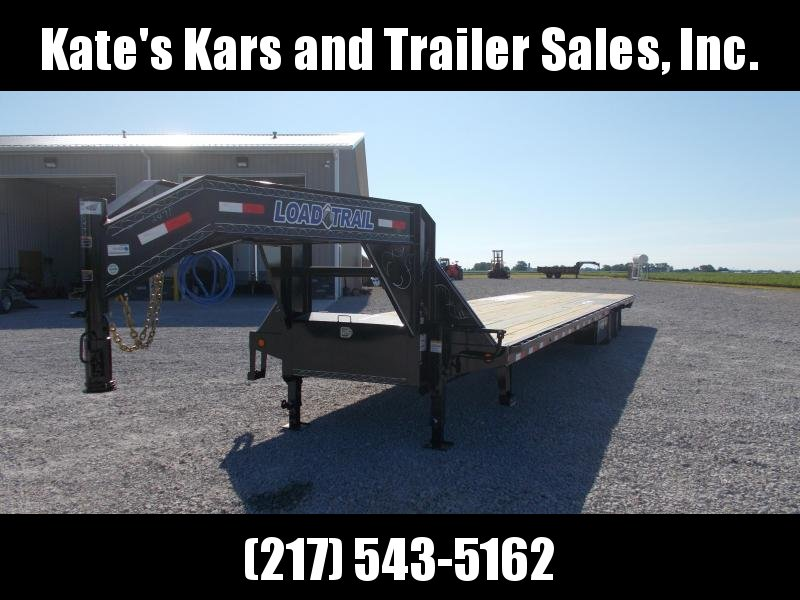AIR RIDE Load Trail 102X40' Gooseneck Hyd Disc Brakes Flatbed Trailer Hotshot