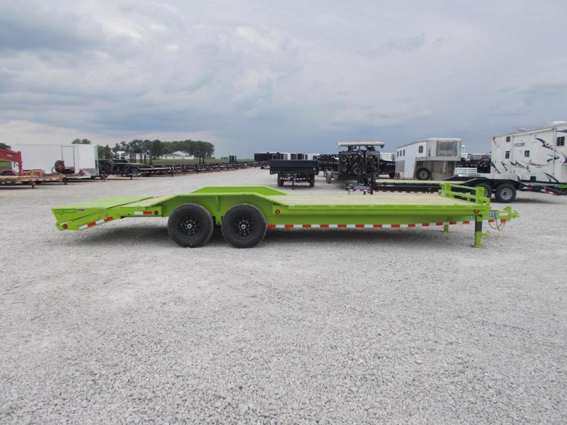 *NEW* Load Trail DRIVE OVER FENDERS 102X24' Safety Green Equipment Trailer