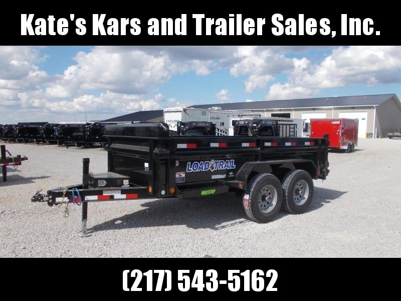 6X12' Load Trail Dump trailer 9990 LB GVWR w/ Tarp ramps led