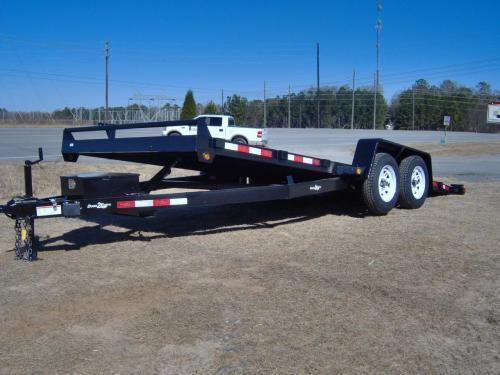 """82"""" x 18' TA2 Power Tilt Steel Deck Trailer 7000 GVWR"""