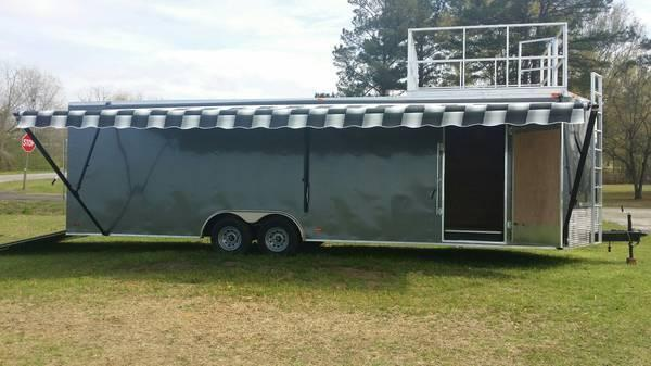Pewter 8.5 X 24u0027 TA3 Enclosed Trailer With Walk On Roof
