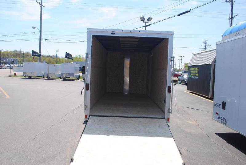 7x14 Haulmark Enclosed Trailer Extra Height Right