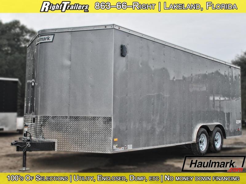 8.5x20 Haulmark   Enclosed Trailer (Silver)