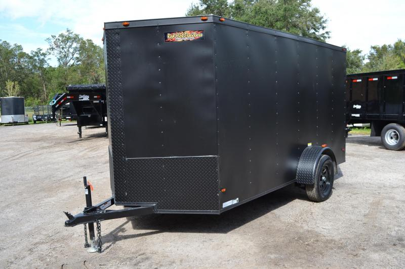 6x12 Red Hot Trailers | Enclosed Trailer [Black Out Package]