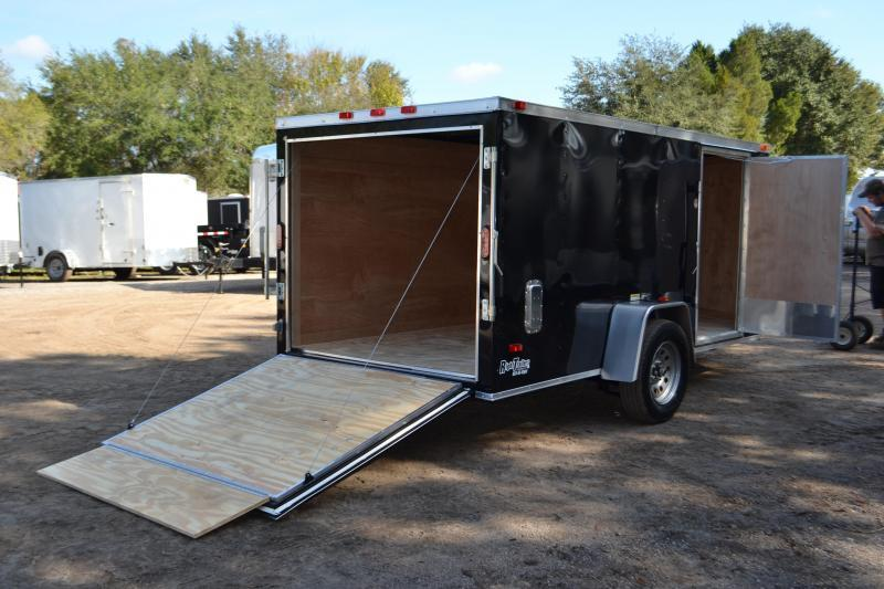 6x12 Red Hot Trailer Enclosed Trailer Fits In Garage