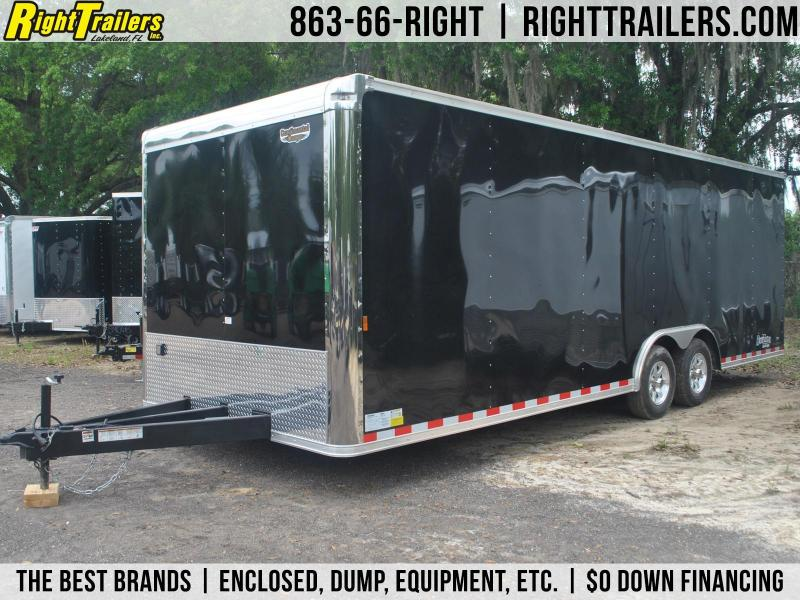 8.5x24 Continental Cargo | Race Car Trailer [Black] | Right ...
