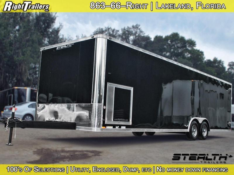 8.5x28 Stealth Liberty | Race Car Trailer [Black] | Right Trailers ...