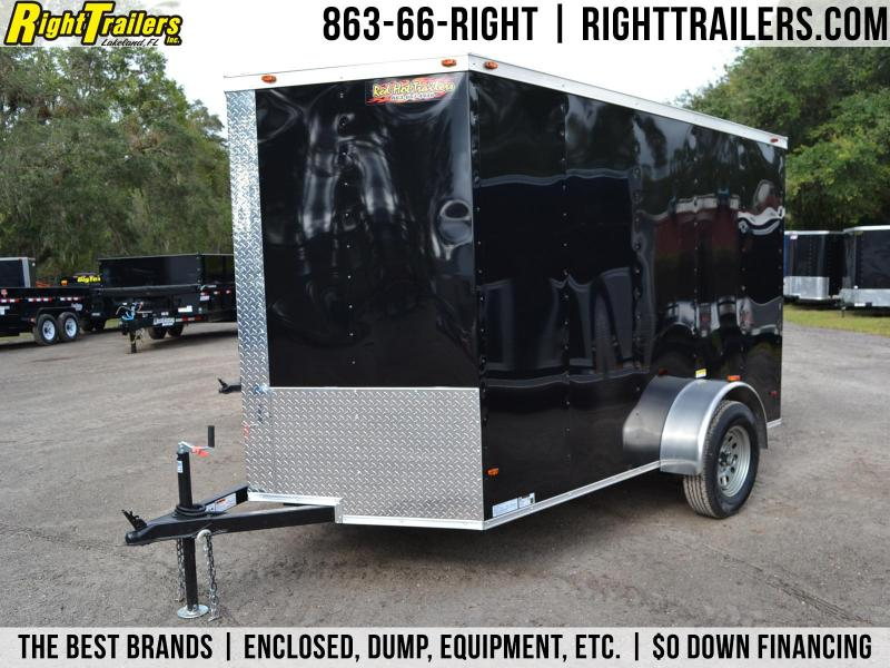 6x10 Red Hot Trailers | Enclosed Trailer [Black]