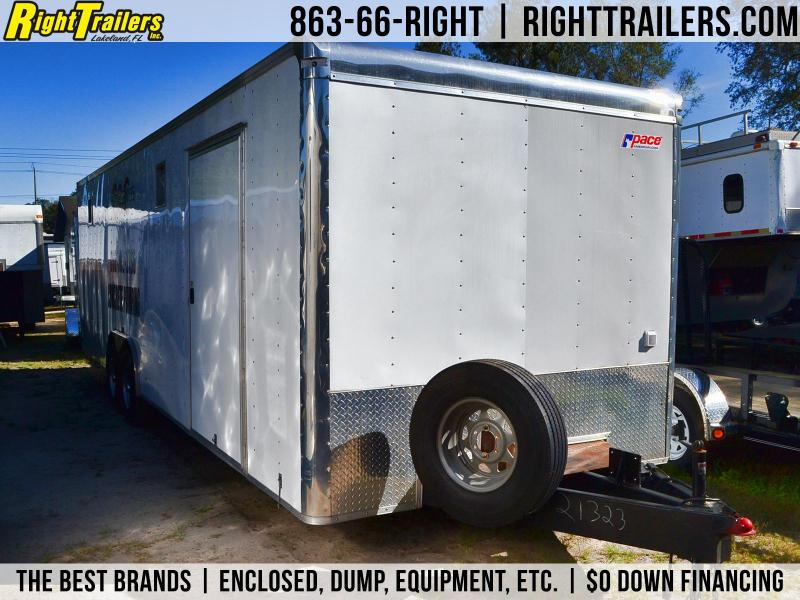 USED: 8.5x28 Pace American | Car Hauler/Race Car Trailer | Right ...