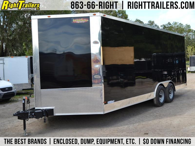 8.5x20 Red Hot Trailers | Enclosed Trailer [Black]